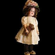 Adorable Kestner bisque toddler doll