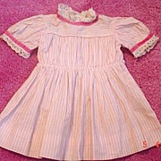 Sweet Pink striped vintage doll dress