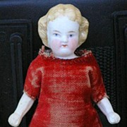 "German antique All-bisque doll 4.25"""