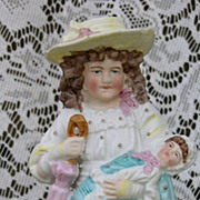 Bisque figurine of a Mother and Child