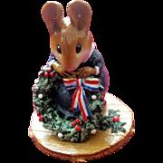 "Wee Forest Folk Mouse ""The Wreathmaker"""