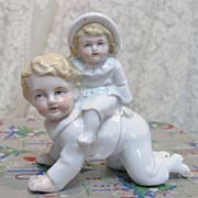 Antique German Porcelain Figurine Children