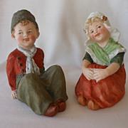 Gebruder Heubach Bisque Dutch Children