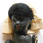 German Black Bisque Head Doll