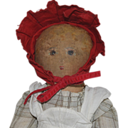 """Little Red Riding Hood"" Cloth Doll with Painted Face by Bye Bye Kids"