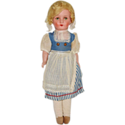 All Original Composition Doll Dressed in Dutch Costume