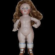 German Wrestler Type All Bisque Doll