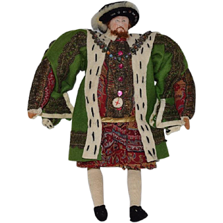 Vintage Liberty of London Cloth Historical Doll Henry the VIII
