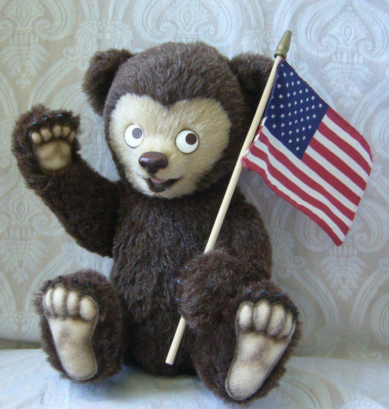 R. John Wright Limited Edition Clifford Berryman Teddy Bear