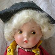 SALE All Original Cute Composition Colonial Boy Doll