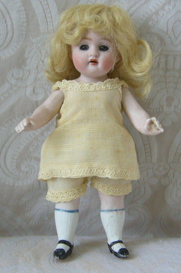 German All Bisque Doll by Kestner