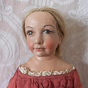 Charming Folk Art Doll by NIADA Artist Gertrude Florian