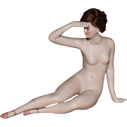 German All Bisque Galluba & Hoffman Bathing Beauty with Pink Slippers