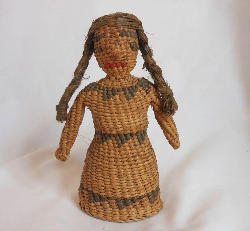 Folk Art Native American Doll Woven Doll