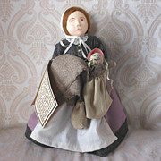 Sarah Morton, A Silhouette Spindle Artist Doll by Mary Michaud