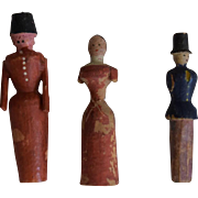 Early Wooden German Toy Dolls