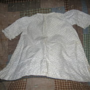 Calico Baby Dress Excellent Antique Outfit for Large Doll or Display