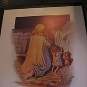 Charles Twelvetrees Print Child Praying with Dolls