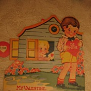 Adorable Mechanical Valentine Little Cottage with Moving Window
