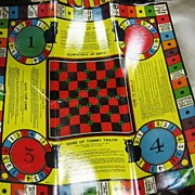 12 Game Combination Board Milton Bradley 1937 Excellent Lithography