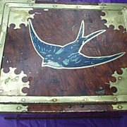 Candy Tin Early Vincent Toffee Tin Lithographed Bluebird