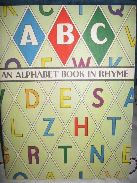 An Alphabet Book in Rhyme 1940s Childs Book McLoughlin Bros