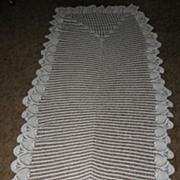 Long Hand Crocheted Pineapple Design Cover Cedar Chest Doily