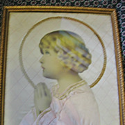 Childs Room Wall Art  *** One of A Kind***Framed Praying Child