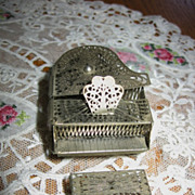 Minature Dollhouse Filigree Grand Piano and Bench Early 1900s