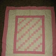 Vintage Hand Made Crib Quilt
