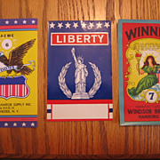3 Patriotic Labels Lovely Lady Liberty & American Eagle