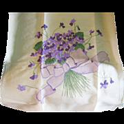 Violets Violets Violets Pillow Top or Bag & Work in Progress