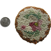 2 Miniature Hand Hooked Rug Mats for Dollhouse