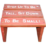 Childs Red Vintage Step Stool Seat