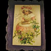 Early 1900s Handmade Postcard Scrapbook on Cloth