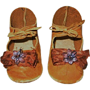 Antique Leather Doll Shoes for Antique Doll
