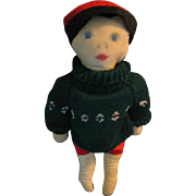 Vintage Boy Rag Doll Star Gazer Loves Winter and Summer!!
