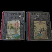 Peter Rabbit Altemus' Peter Rabbit Series 1921 2 Books