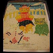 Fern Bisel Peat Illustrated Real Cloth Book Three Little Kittens