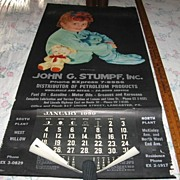 Lancaster Pa Advertising Calendar Sleepy Time Gal Large 1959 Calendar with Sleepy Child