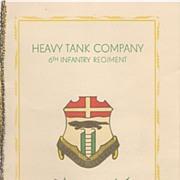 Rare Military Christmas Card Berlin 1952 Heavy Tank Co & Names