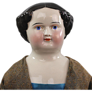 Kestner China Head Lady Doll 1860 Unusual Face