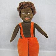 "Norah Wellings Cloth Doll Black Islander 14"" All Original"
