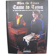 "Hardcover doll book ""When the Circus Comes to Town"""