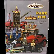 Book: Rare Fun Auction Catalog Cast Iron Toys Schoenhut Disney