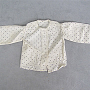 Early French Fashion Blouse Hand Stitched Gorgeous Detail