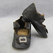 Antique Doll Shoes with Heels 3 Inches Long