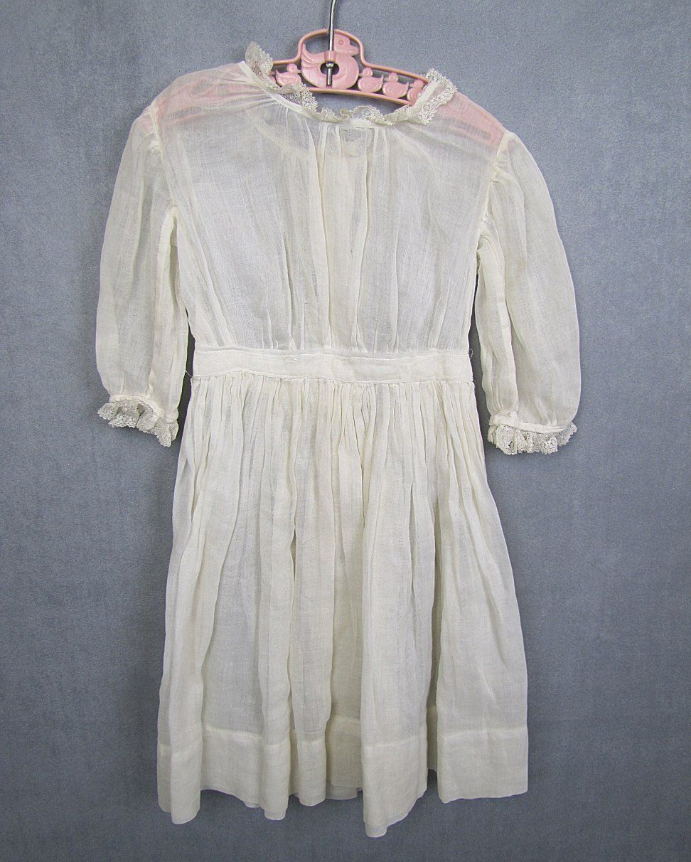 Antique Doll Dress for Large Doll Beautiful Fine Cotton Lawn