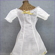 Couture Doll Dress or Undergarment Gorgeous White Lawn