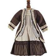 Two Piece Frock for French or German Bebe